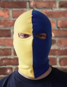 Cagoule jaune/bleue