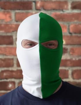 Sturmhaube grün/weiß