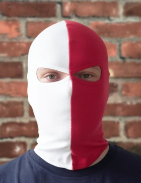 Sturmhaube rot/weiß